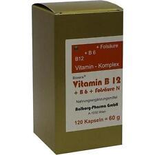 VITAMIN B12+B6+Folsäure Komplex N Kapseln 120 St PZN 93705