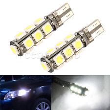 2 x Xenon White Reverse Backup 360° LED Light Bulbs 13-SMD 921 912 T10