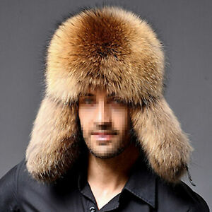 Unisex Ushanka Faux Fur Russian Cossack Trapper Warm Hat Aviator Snow Cap Winter