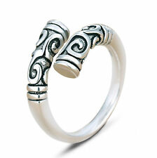 Men's Women Retro Jewelry Thailand 925 Sterling Silver Punk Goth Open Rings Gift