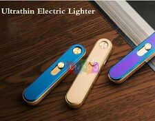 Ultrathin Electric Lighter USB Dual Rechargeable Windproof Flameless