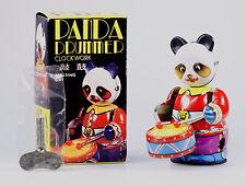 Clock Work Tinplate Drumming Panda, New Old Stock, Made in China 1980s