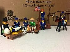 Playmobil Civil War Camp / Union Soldiers / General / Doctor / Cook / Western