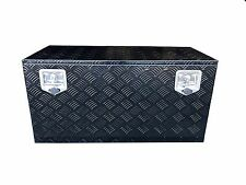 "36"" Black Finish Aluminum Underbody Tool Box Storage with T-Handle Latch/ Keys"
