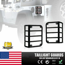 Tail Light Guards Cover Rear Lamps Trim Cover For 2007-2016 Jeep Wrangler JK VIP