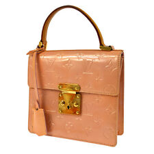 AUTHENTIC LOUIS VUITTON VERNIS SPRING STREET HAND BAG PINK M91033 AK15888