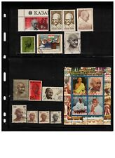 INDIA + GROUP of MAHATMA GHANDI 1869-1948 12++ stamps + SS  cat $12+  LOT303