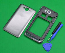 For  Samsung ATIV S i8750 Silver Housing Middle Frame+Battery Cover Part