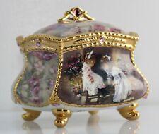 My Sister My Friend Shared Memories Porcelain Music Trinket Jewelry Dresser Box