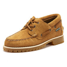 Sebago Acadia Mens Tan Suede Shoes Lace Up Leather Casual