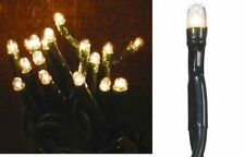 50 Super Bright Teeny Rice String Lights 50 CLEAR BULBS Set Brown Cord