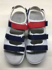 Fila Size 9 Disruptor Platform Sandals Shoes Women's Red White Blue