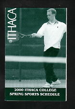 Ithaca Bombers--2000 Tennis/Spring Sports Pocket Schedule