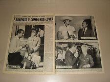 ALBERTO SORDI TINA AUMONT E ALTRE 1966 clipping articolo foto vintage