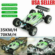 WLtoys A959-B RC Car 1:18 2.4G 4WD Racing 70KM/H Vehicle for Kids Adults US E8R4