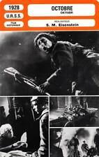 FICHE CINEMA : OCTOBRE - Popov,Nikandrov,Eisenstein 1928 Oktiabr/October