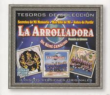 La Arrolladora Banda el Limon de Rene Camacho Tesoros 3CD BOx set Caja de 3CD