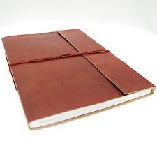 Fair Trade Handmade Plain Leather Photo Album Scrapbook, Eco Friendly
