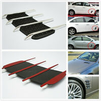 2Pcs Chrome Exterior Side Vent Air Flow Hood Intake Decorative Sticker For Car