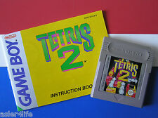 TETRIS 2 + INSTRUCTION BOOKLET - GAME BOY - GB