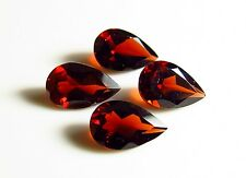 4pc - 5x8mm RED GARNET PEAR CUT FACETED GEMSTONES - 4ct  CUT FROM NATURAL ROUGH