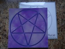"Laminated Pentagram 8"" Gemstone Crystal Grid Metaphysical Bonus!"