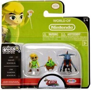 Legend of Zelda: Wind Waker Micro Figure Set: Link, Makar and Bokoblin