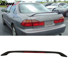 Fits 98-02 Honda Accord 4DR OE Style 3rd Brake LED Trunk Spoiler Unpainted - ABS