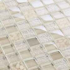 Glasmosaik Fliesen Mosaik Crystal Pebbles Beige Creme 8 mm