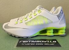 Nike Shox Superfly R4 White Wolf Grey Volt Women's Sz 6.5 Classic Running Shoes
