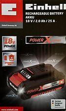 Einhell Power X-Change Akku 18V 2.0Ah Li-Ionen Power Batterie Aufladbar Power