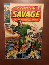 Captain Savage And His Battlefield Raiders #12 (1969) Marvel Silver Age Key Book