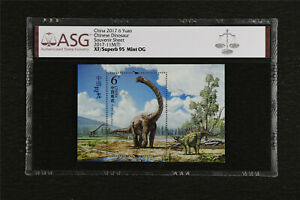 China 2017 6 Yuan Chinese Dinosaur Souvenir Sheet 2017-11M(T) ASG XF/Superb 95