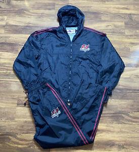 Tampa Bay Buccaneers Team Apparel Windbreaker Jacket and Pants Men's Size XL