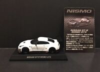 Kyosho 1:64 NISSAN GT-R Nismo GT3 Diecast Car Model WHITE