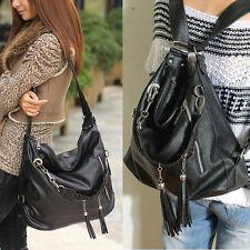 Women Tassel Leather Shoulder Bags Tote Hobo Purse Messenger Handbag Backpack