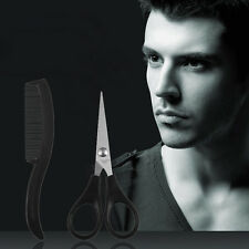 NEW Beard Mustache Nose Ear Scissors Comb Trimming Set Small Facial Hair pre