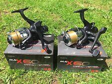 2 x NGT MAX 60 2 BB Pesca della Carpa Mulinelli Caricato Con Linea 10 LB (ca. 4.54 kg) NGT Tackle