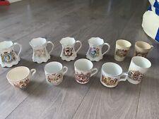 Royal Wedding Coronation Mugs Cups King George v Queen Elizabeth Silver Jubilee