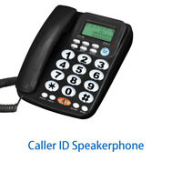 Telephone Corded With Speaker Crystal Dialpad Desk Telephone For Eldly Home Kit