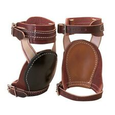 Weaver Leather Skid Boots with Deep Foam Lined Rubber Cups Horse Size Brown