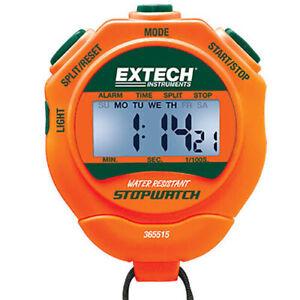 Extech 365515 Stopwatch/Clock w/ Backlit Display Digital LCD Stopwatch