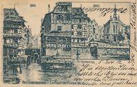 STRASBOURG - Der Gerbergraben Le Fosse Des Tanneurs 1902 Postcard – France – udb