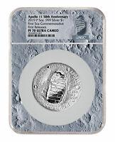 2019 D Apollo 11 50th Commem Clad Half Dollar Ngc Ms70 Fr Moon Core Sku56534 100% Original Coins: Us