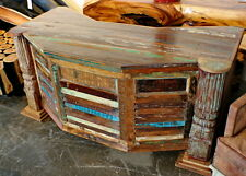 "65"" Long Office Desk Solid Reclaimed Salvage Wood Multicolor Handmade Rustic"