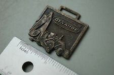 DYNAHOE BACKHOE LOADER Vintage Watch Fob advertising collectible tractor brass