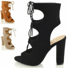 Essex Glam Block Heel Lace Up Shoes for Women