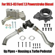 Bellowed Up Pipes+Housing&Turbo Pedestal Fit 99.5-03 Ford 7.3 Powerstroke Diesel