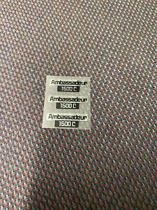 3 ABU AMBASSADEUR 1500c REEL DECALS STICKER