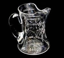 Vintage heavy and huge sparkly cut crystal water jug